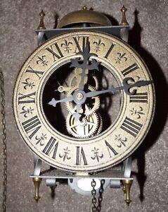 Tempus Fugit 8 Day Clock West Germany Weight-Driven Pendulum Brass ...