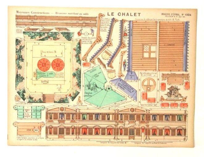 Imagerie D'Epinal No 1004 Le Chalet, Moyennes Constructions toy paper model