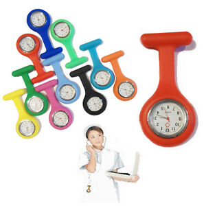 Nurse-Watch-Light-Silicone-Brooch-Tunic-FOB-Medical-Pocket-Mini-Watch