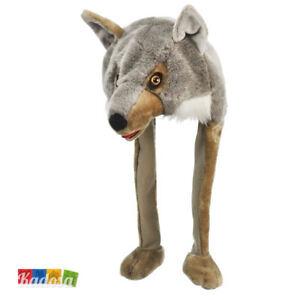 Caricamento dell immagine in corso Berretto-Animali-LUPO-Peluche-Wolf- Cappello-Adulti-Bambini- 4dae42163d53