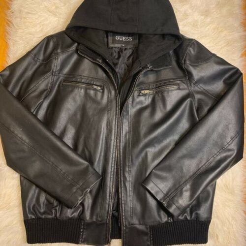 guess leather jacket men