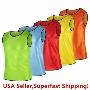 d7fcdcd8f Pack of 6   12 Soccer jersey Bibs Adult Sports team Scrimmage ...