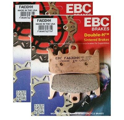 EBC Double-H Sintered Front Brake Pads for 2013-2015 BMW R1200GS 2 Sets FA630HH