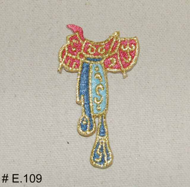 1PC~HORSE SADDLE~ IRON ON EMBROIDERED APPLIQUE PATCH