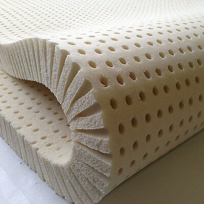 """100% Natural Latex Mattress Topper - Any Size - Any Firmness - Up to 3 """" Thick"""