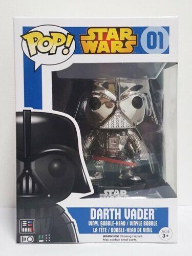 Pop Star Wars 01 Darth Vader Cromato Chrome Funko Nuovo