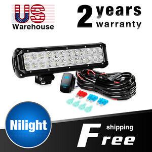 s l300 nilight 12inch 72w combo led light bar, 5pin rocker switch,wiring