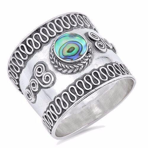 USA vendeur Bali Design Bande Argent Sterling 925 Best Bijoux Sélectionnable abalone