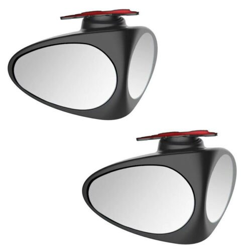 One Pair 2in1 Wide Angle 360° Rotation Car SUV Rearview Blind Spot Mirrors Black