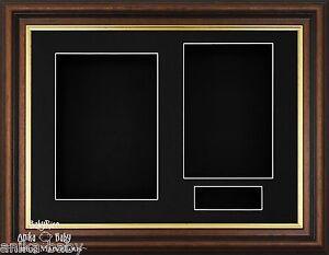 New Mahogany Gold Trim Wooden Deep Box Display Frame Photo Keepsake Medal Casts