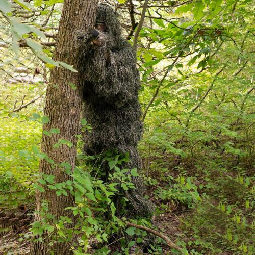 Kids 3D Ghillie Suit Woodland Camouflage Outdoor Hunting Games Clothing