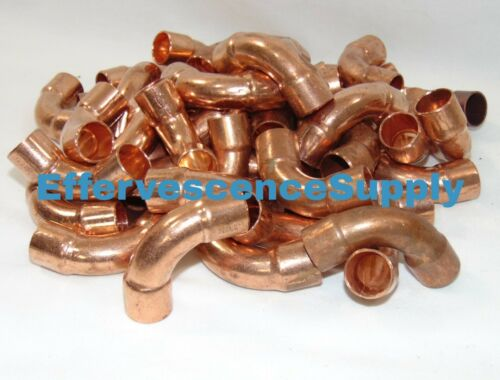 """$1.50 Each 5//8/"""" CxC Copper 90° Long Turn Elbow For 3//4/""""O.D Pipe"""