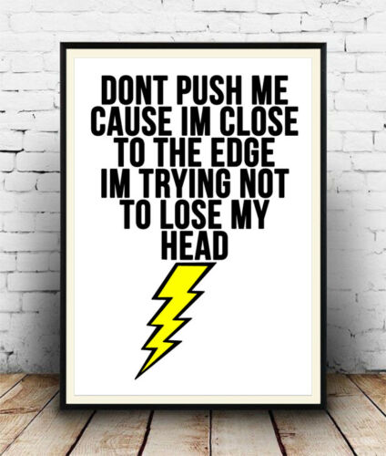 Wall Art Poster Grandmaster Flash The Message Lyrics Song Words Quote