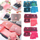 6Pcs Waterproof Clothes Storage Travel Luggage Organizer Bags Packing Cube Pouch