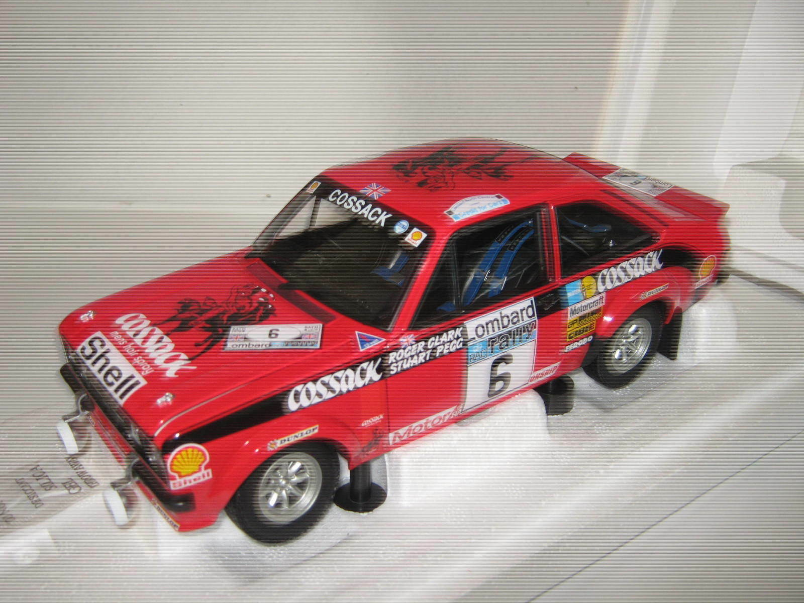 1 18 ford escort II RS 1800 Rallye RAC 1976 Clark Minichamps 100768406 OVP New