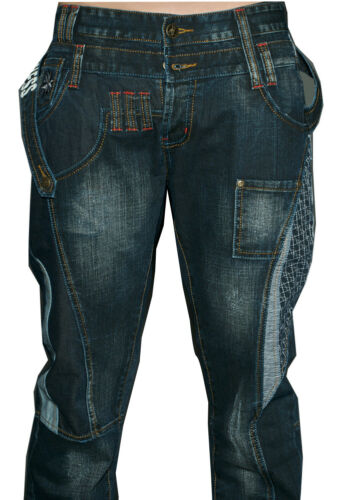 Homme Unique JEANS CREATEUR état communiste 007 Cross Hatch police cipobaxx Mix