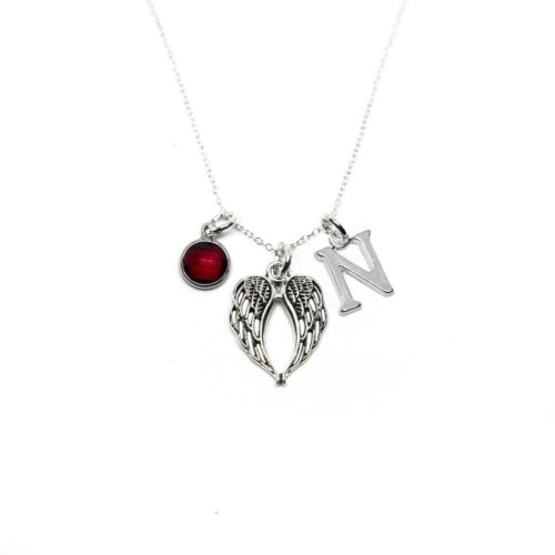 women/'s jewellery personalised gifts Angel wing necklace guardian angels