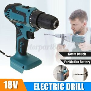 18V-13mm-Electric-Cordless-Drill-High-Low-Speed-Woodworking-For-Makita-Battery