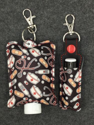 Custom Made Lip Balm /& Hand Sanitizer Holders Nurse Bandaid First Aid