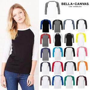 Bella-Canvas-Unisex-Triblend-Baseball-T-Shirt-3200-3-4-Armel-Sportswear-Top