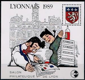Volontaire Timbre France Bloc Cnep N°10 Neuf** Lyonnais (salon Philatélique De Lyon )