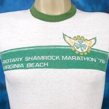 vintage 1978 VIRGINIA BEACH SHAMROCK MARATHON RINGER T-Shirt XXS thin 70s 80s