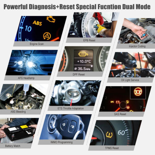 LAUNCH X431 DPF EPB Automotive Scanner BMS ABS IMMO TPMS OBD2 Diagnostic Tool