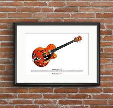 Brian Setzer's 6120 guitar ART POSTER A3 size