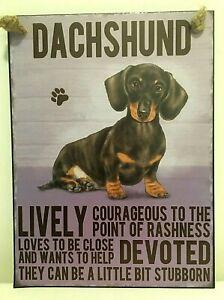 DACHSHUND ~  DOG BREED METAL SIGN~ MEDIUM  ~ NEW