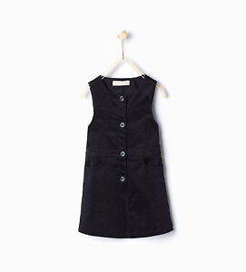 top style new arrival clear-cut texture Details about ZARA Girls' Corduroy Pinafore Dress