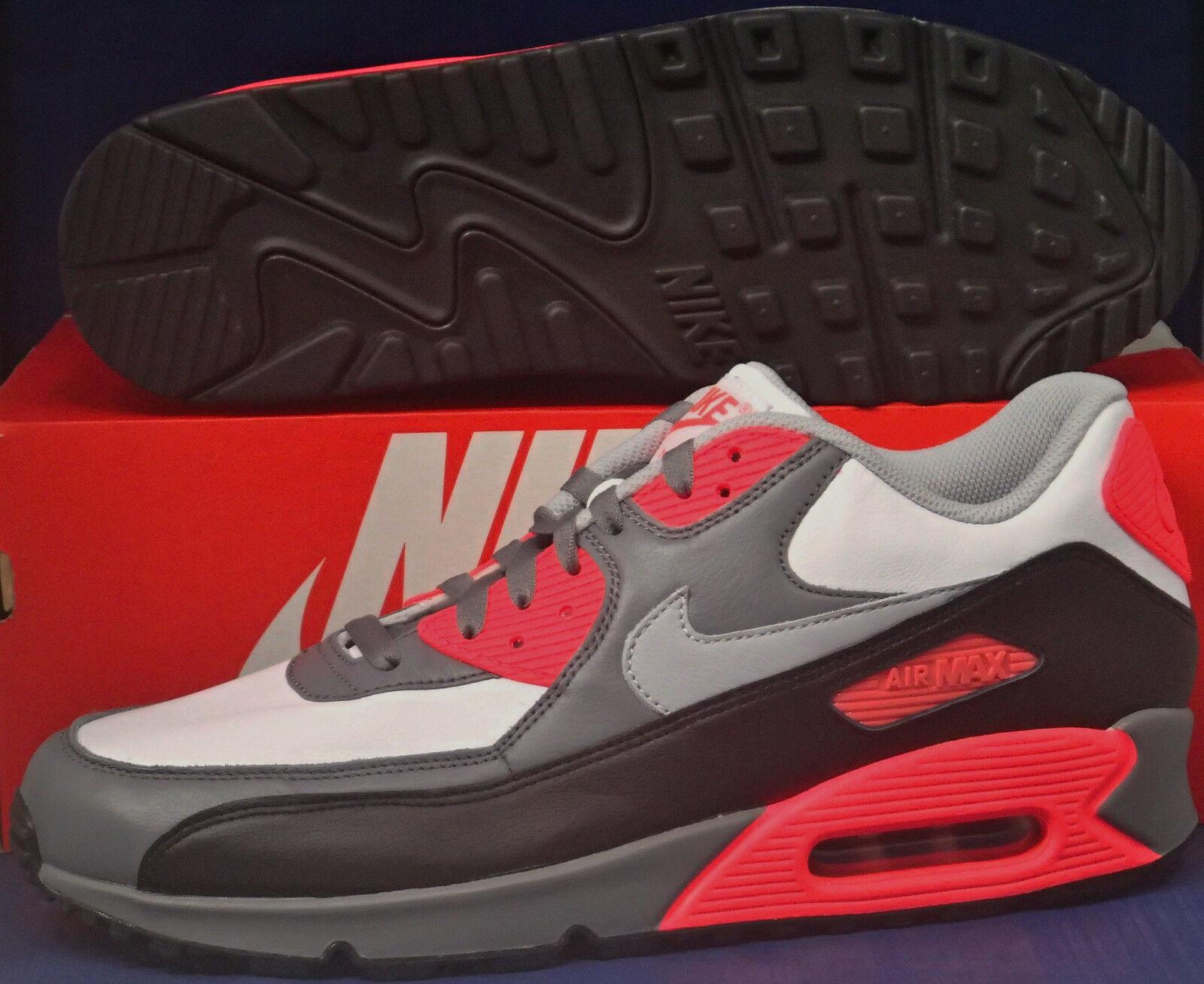 Nike Nike Nike Air Max 90 iD White Black Grey Infrared OG SZ 11.5 ( 653533-997 ) 8690c7