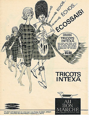 Other Breweriana Obliging Publicite Advertising 014 1961 Intexa Tricots