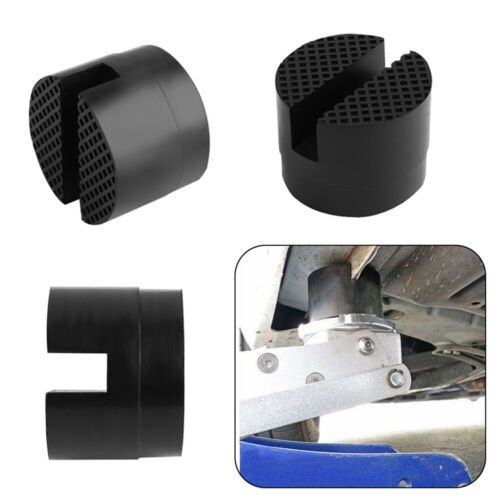 Car Slotted Frame Rail Floor Jack Adapter Lift Rubber Pad Support Stand Holder