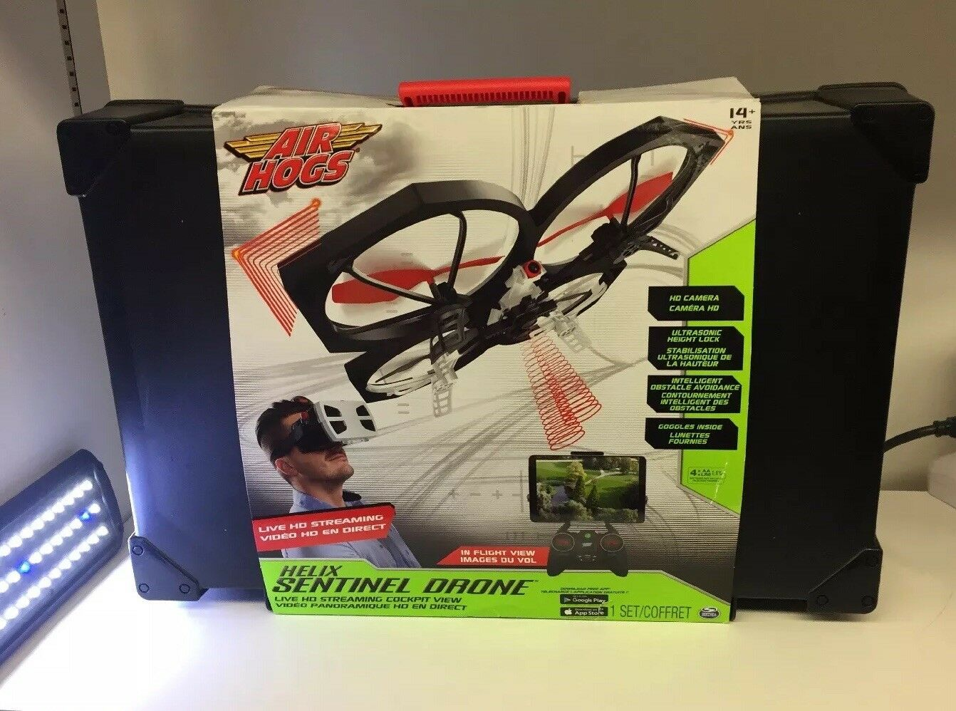 Hogs Helix Sentinel primera Person Air Vista FPV HD 720p de vídeo Drone 4G Wifi capabl