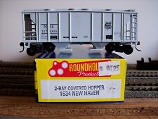 Roundhouse HO Scale Haven 2 Bay Covered Hopper NH 117068 Item 1634 S3