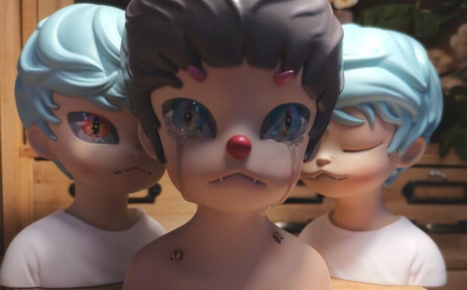 Estatuilla De Arte Diseño Keme vida Raro adorable niña con encantado Animal Juguete Regalo