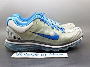 2222a856a2b83 Women s Nike Air Max+ 2009 Silver Grey Blue Running Shoes 354750-016 ...