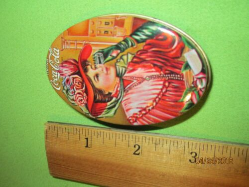COCA COLA VINTAGE OVAL SEWING KIT TIN WITH CONTENTS