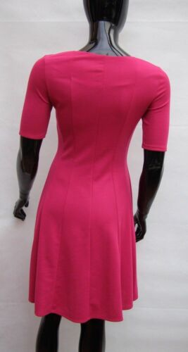 MARKS /& SPENCER PINK STRETCH JERSEY PANELLED FIT /& FLARE DRESS Sizes 8,10,12,14