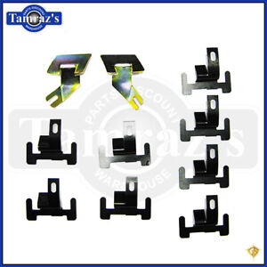 67-69 F Body Lower Front Window Windshield Molding Trim Retainer Clip Set New