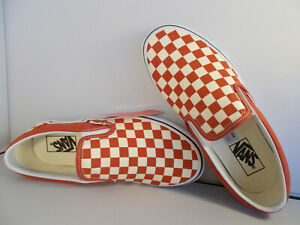 VANS-Classic-Slip-On-Hot-Sauce-Checkerboard-Skateboarding-Shoes-Men-039-s-Sz-7-5-NIB