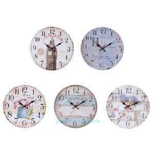 30cm-Vintage-Rustic-Wooden-Wall-Clock-Antique-Shabby-Chic-Retro-Home-Room-Decor