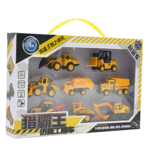 8 Stück Legierung Baustellenfahrzeug Auto LKW Fahrzeug Spielzeug für