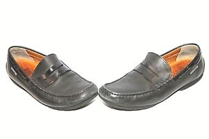 38cadb66e36 Image is loading MEPHISTO-COOL-AIR-DRIVING-PENNY-LOAFERS-BLACK-LEATHER-
