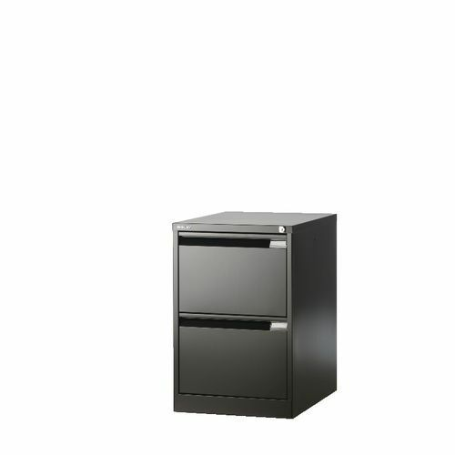 Bisley 2 Drawer Filing Cabinet Flush Front Bs2e Foolscap 1623 Black Ebay