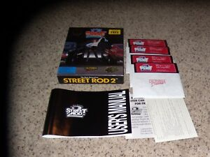 Street-Rod-2-IBM-PC-Mint-5-25-034-disks-Complete-with-Box-and-Manual