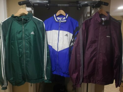 Vintage 90s adidas Track Suits with track pants XL