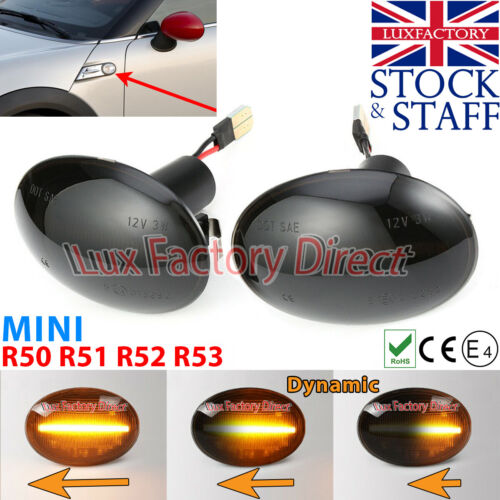 Mini R53 Cooper S JCW GP indicators Smoked side Repeater Cooper S R50 LUXFACTORY