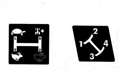 Aufkleber Label Sticker Für Deutz Schaltschema D7206 Baureihe (7+8).