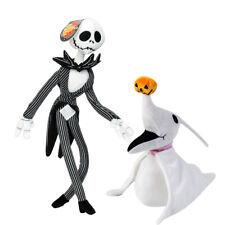 2PCS la pesadilla antes de Navidad Jack Skellington Santa Juguetes De Peluche Halloween